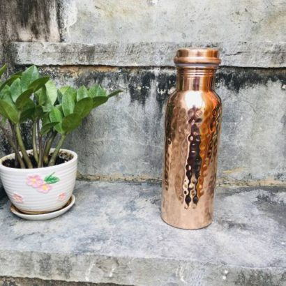 TipC 100% Cooper made Bottle, Water bottle, pure cooper made,Luxury Design, Capacity 900 ML, Traditional pure copper drink ware