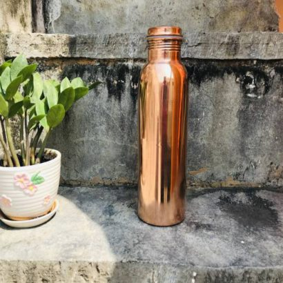 TipC 100% Cooper made Bottle, Water bottle, pure cooper made,Luxury Design, Capacity 1100 ML, Traditional pure copper drink ware