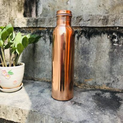 Pack of 2 TipC 100% Cooper made Bottle, Water bottle, pure cooper made,Luxury Design, Traditional pure copper drink ware school bottle