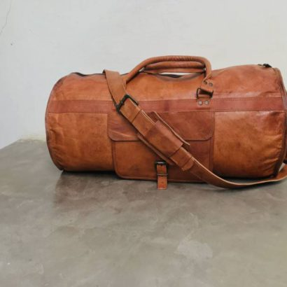 Personalized Handmade Goat Leather Duffel Bag, Gym, Travel, Weekend Overnight Luggage Bag, Best Gift For Men and Women