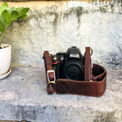Handmade Leather DSLR Camera Strap, Padded Leather Camera Accessories for Photographers, Personalized Gift For Men and Women