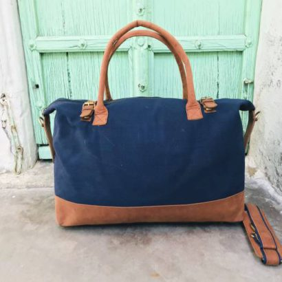 Handmade Canvas Leather Large Tote Bag For Women, Travel Purse, Market, Shopping, Gym, Beach, Grocery Bag, Canvas Duffel Bag For Women