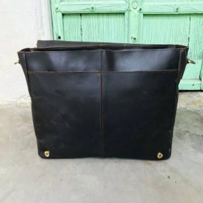 13″ Personalized Buffalo Leather Messenger Shoulder Laptop Bag, Office Briefcase, Handbag, Gift for Men and Women Vintage