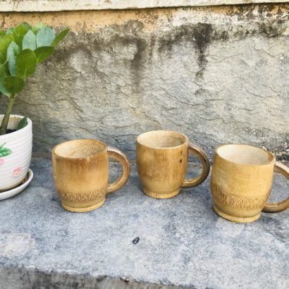 Set of 3 Bamboo made Bamboo cups, tea serving cups, coffee Serving cups Healthy hygienic eco-Friendly & Biodegradable