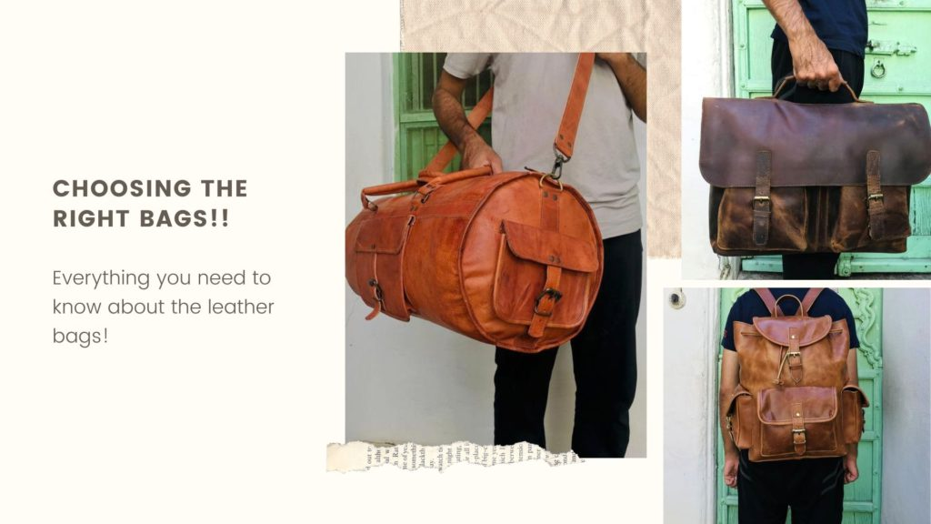 Choosing the right bags!!