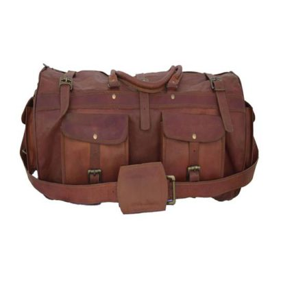 Personalized Handmade Goat Leather Duffel Bag, Travel, Sports, Gym, Weekender Bag, Best Gift For Men and Women