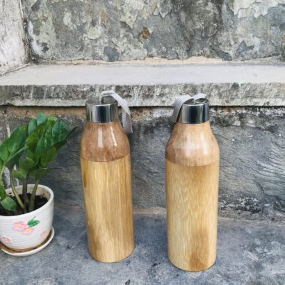 Set of 2 The organic Bamboo Water Bottle, Bamboo Grass, Water bottle, Handmade Bamboo, Flask, Healthy hygienic eco-Friendly & Biodegradable