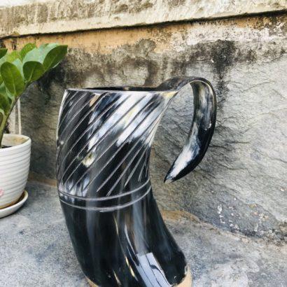 Viking Buffalo Drinking Horn Mug, Drinking Tankard, Medieval Ale Horn Cup, Groomsmen Best Man Gift, Wedding Gift, Game of Thrones Horn Mug