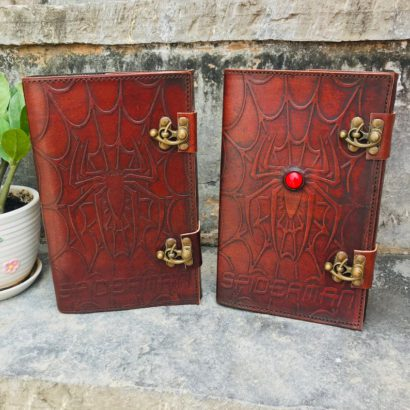 PACK OF 2 Handmade Goat Leather Journal, Travel Journal, Sketchbook, Refillable Diary, Journal Cover With Stone Lock, Best Valentine Gift