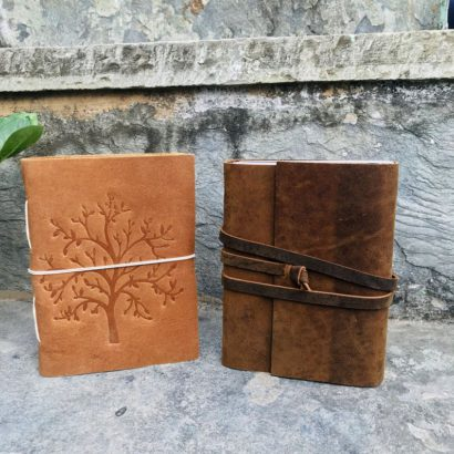 2 Tree of Life Suede Leather Journal, Travel Vintage Journal, Notebook, Non-Refillable Diary, Sketchbook, Newspaper, Best Valentine Gift