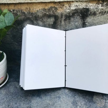 Handmade Goat Leather Journal, Leather Sketchbook, Refillable Diary, Embossed Journal Cover With Stone Lock, Newspaper Best Valentine Gift