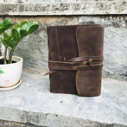 Handmade Buffalo Journal, Leather Sketchbook, Non-Refillable Diary, Journal Cover, Newspaper, Notebook for School, Best Valentine Gift